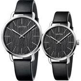 Calvin Klein CK Even 木質情侶手錶 對錶-黑/42mm+36mm K7B211C1+K7B231C1