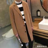 全館88折特惠-風衣男春秋正韓學生中長版2018新品修身帥氣過膝男士外套大衣