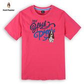Hush Puppies T恤 男裝雙色貼布刺繡狗T恤