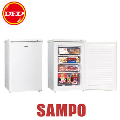 SAMPO 聲寶 冷凍櫃 SRF-90S 容量87L 單門 多段式溫度控制 可拉式4層透明抽屜  ※運費另計(需加購)