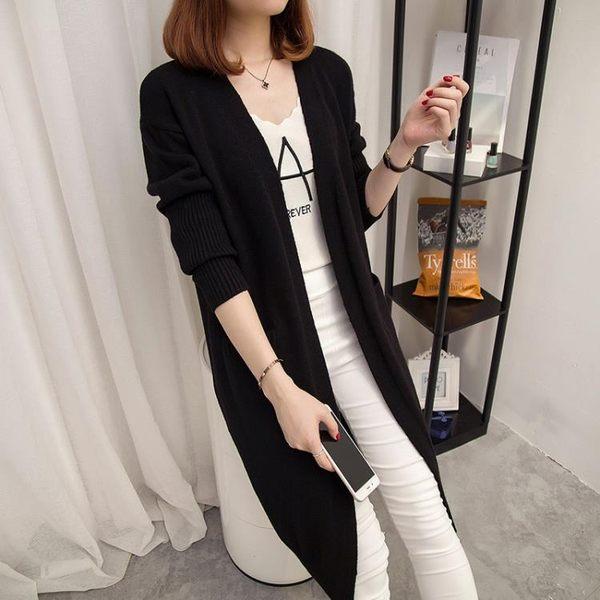 毛衣外套女新款女裝韓版百搭中長款針織衫女開衫寬鬆顯瘦 黛尼時尚精品