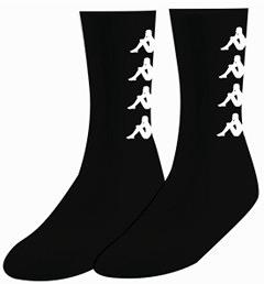 KAPPA 時尚型男休閒運動中長襪3雙 黑3036CP0900
