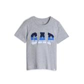 Gap男幼棉質舒適圓領短袖T恤545793-亮麻灰色