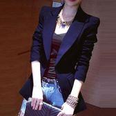 西裝外套女秋冬新款韓版中長款顯瘦休閒復古黑色chic小西服潮 衣櫥秘密