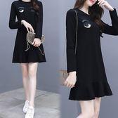 【韓國K.W.】(預購) 流行穿搭韓式名媛英倫主張洋裝