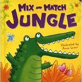 【新動物變裝秀】MIX AND MATCH JUNGLE 幼兒動物配對遊戲書