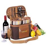 野餐包 含2人餐具組-保溫特別巧克力色外出郊遊造型肩背手提包68ag41[時尚巴黎]
