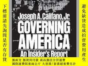 二手書博民逛書店【罕見】Governing AmericaY27248 Eric Weiss Photog... Simon