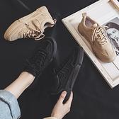 運動鞋春季新款夏季黑色ins帆布鞋女韓版百搭學生休閒運動老爹板鞋