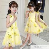 洋裝 兒童寶寶童裝女童夏裝新款短袖菠蘿印花連身裙時尚公主裙子韓版  韓慕精品