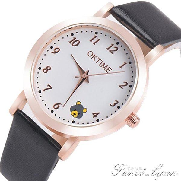 韓版中小學生手錶女童防水電子石英錶手錶女孩男孩可愛卡通錶  范思蓮恩