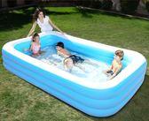 游泳池 超大號兒童遊泳池家用加厚寶寶充氣水池嬰兒遊泳桶成人家庭洗澡池igo 唯伊時尚