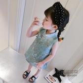 女童兒童禮服公主裙小童中國風3歲女寶寶嬰兒旗袍裙1