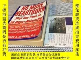 二手書博民逛書店英文原版罕見no more heartburn : stop t