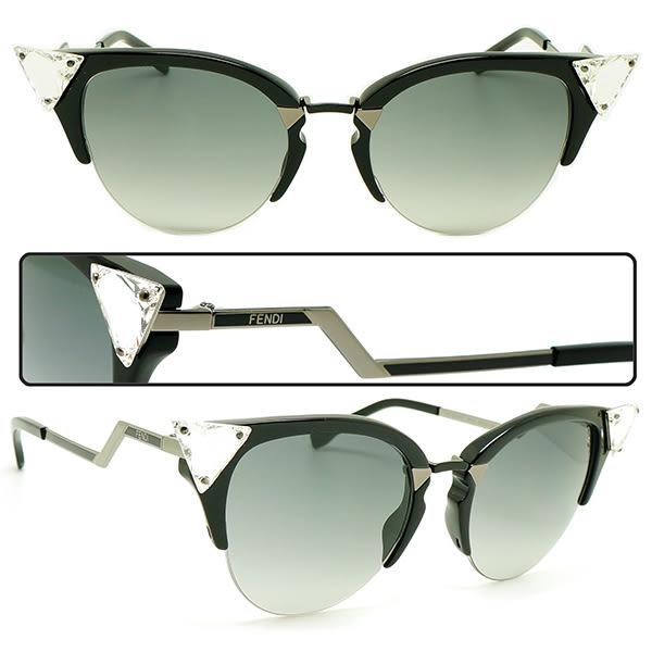 【台南 時代眼鏡 FENDI】墨鏡太陽眼鏡 FF0041 GiKVK 49mm 義大利時尚流行品牌 公司貨開發票