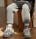 女童裤 兒童褲子洋氣男童休閒褲加絨加厚女童春外穿寶寶運動褲潮童冬裝【快速出貨八折搶購】