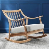 漢哲北歐實木休閒搖搖椅沙發大人午睡椅子家用陽台懶人躺椅逍遙椅 NMS名購居家