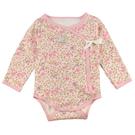 【愛的世界】純棉長袖綁帶連身衣/3~6個月-台灣製-  ---幼服推薦