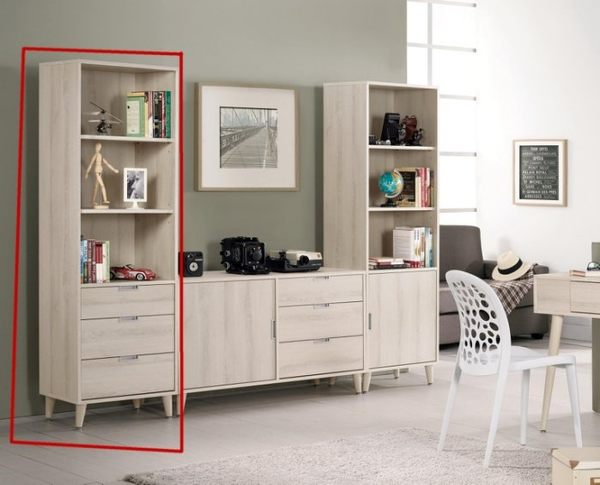 8號店鋪 森寶藝品傢俱 a-01 品味生活 書房系列 895-2 愛莎1.8尺三抽書櫥