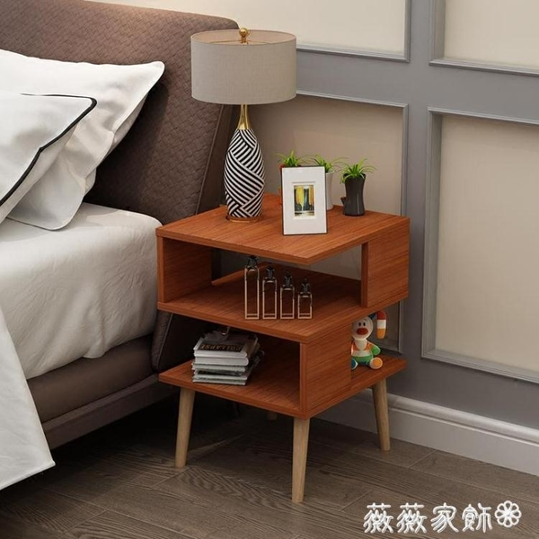 床頭櫃 北歐簡約現代組裝臥室迷你床頭櫃簡易床邊櫃小茶幾 MKS 薇薇