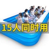 游泳池 兒童充氣游泳池加厚寶寶家用嬰兒泳池超大家庭戶外大型玩具戲水池YYJ 伊莎gz