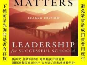 二手書博民逛書店The罕見Leadership & Learning Center: Book Trust Matters Lea
