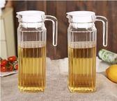 家用玻璃冷水壺涼水壺果汁壺扎壺鴨嘴壺水杯套裝耐熱
