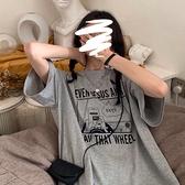 2021夏季新款ins超火短袖t恤女學生韓版寬鬆休閑體恤百搭上衣服潮 【快速出貨】YYP