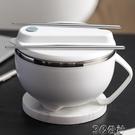 泡麵碗 304不銹鋼泡面碗帶蓋易清洗日式大號碗筷套裝單個學生宿舍打飯盒 3C公社