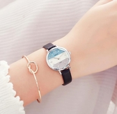 珂紫手錶女學生韓版簡約女款時尚 流防水休閒小清新女表皮帶