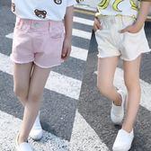 女童短褲 2018夏裝5新款7女童8水洗9毛邊11牛仔短褲12中大童10歲女孩13熱褲 芭蕾朵朵