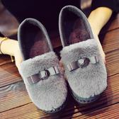 老北京棉鞋女冬平底加絨豆豆鞋保暖毛毛鞋一腳蹬雪地靴家居女棉鞋