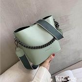 法國小眾高級感洋氣包包女2021新款潮韓版百搭單肩斜挎時尚水桶包