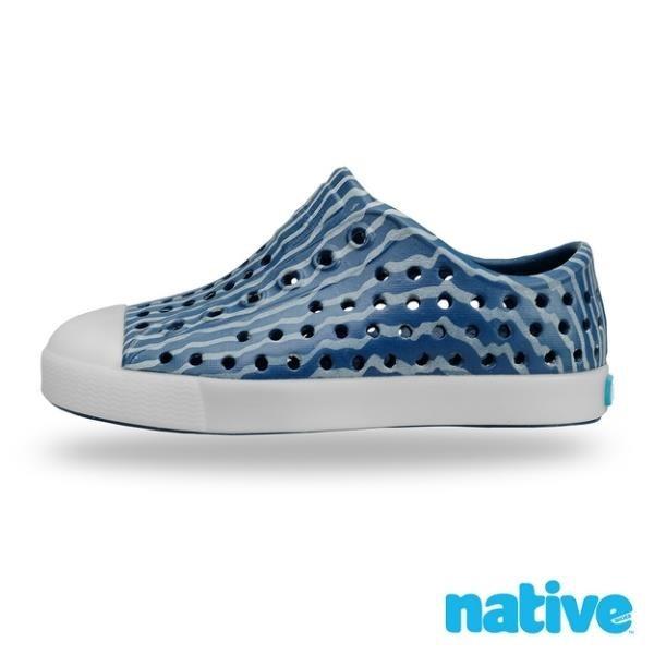 【南紡購物中心】【native】大童鞋 JEFFERSON 小奶油頭鞋(挑戰者藍)