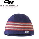 【Outdoor Research 美國 童 Spitsbergen Beanie 羊毛防風透氣保暖帽《藍紅》】243626/毛帽/防風