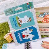 正版授權 moomin 嚕嚕米 姆咪一族 悠遊卡貼票卡貼紙 D款 COCOS DS025