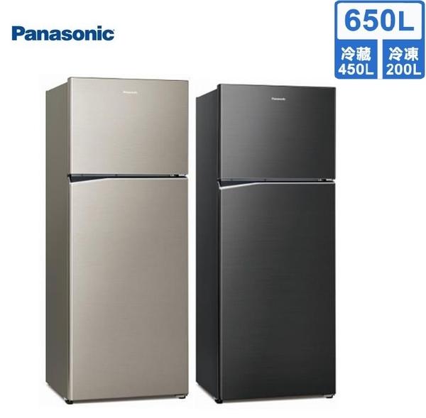 【送基本安裝+送免運】Panasonic國際牌 ECONAVI 650公升變頻雙門冰箱NR-B659TV-S1/A(星耀金/星耀黑)
