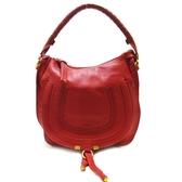 Chloe 克羅伊 紅色經典Marcie Bag系列單提把手提包 【二手名牌 BRAND OFF】