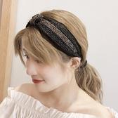 髮箍 黑色氣質發箍女網紅韓國簡約時尚寬邊壓發卡發帶超仙發飾成人頭箍