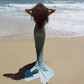 比基尼 海邊度假美人魚沙灘裙比基尼泳衣魚尾配裙
