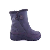 丹大戶外【ESKT】女中統雪鞋/雪靴/附有簡易冰爪/內刷毛/雪地行走必備品 SN233 咖啡沙丁布
