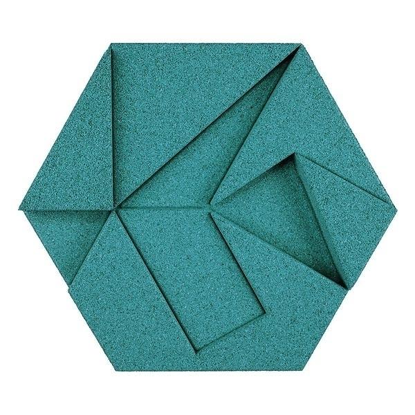 Hexagon有機軟木塊-Turquoise
