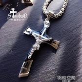 【罪罰】時尚鈦鋼十字架項錬男款天主教耶穌受難像吊墜斧形掛墜