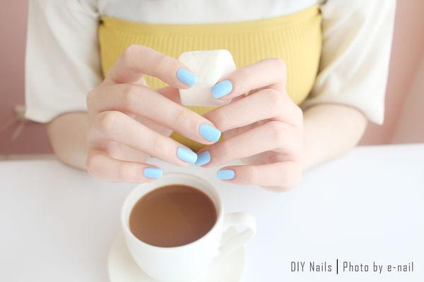 e-nail~(P287A/ Baby blue)可剝式水指甲 / 環保健康水性指甲油