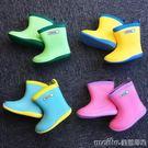 兒童雨鞋男童雨靴女寶寶水鞋小童學生膠鞋防滑四季通用加絨可拆卸 美芭印象