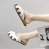 包頭拖鞋女2020夏季新款韓版時尚平底洞洞鞋外穿休閒涼拖鞋子女潮