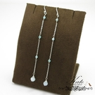 銀飾純銀耳環 天然天河石 海藍寶 輕盈夏日 手工創意 925純銀寶石耳環 KATE 銀飾