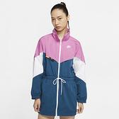 NIKE SPORTSWEAR 女裝 外套 長版 梭織 輕巧 藍粉【運動世界】 CJ2047-100
