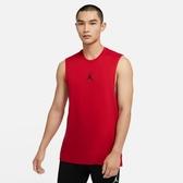 R-NIKE Jordan Air 男裝 背心 訓練 休閒 喬丹 印花 排汗 透氣 紅 黑 舒適 飛人 CU1025-687