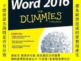 二手書博民逛書店Word罕見2016 For DummiesY410016 Dan Gookin ISBN:97811190
